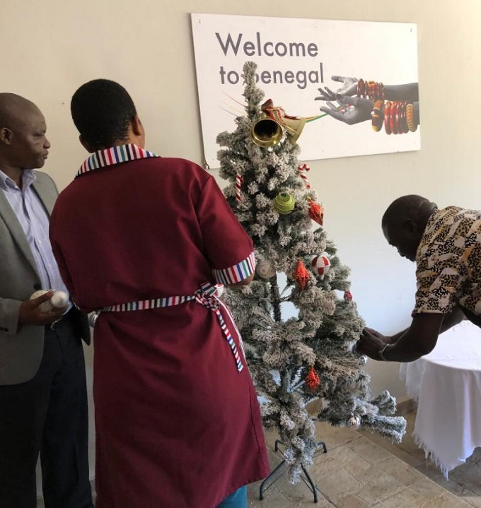 CHRISTMAS SPIRIT AT THE SENEGAL EMBASSY IN SOUTH AFRICA